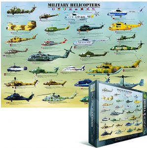 Military Helicopters 1000 piece jigsaw puzzle   (pz)